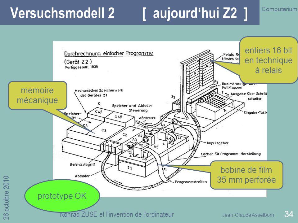 Versuchsmodell 2 [ aujourd'hui Z2 ]